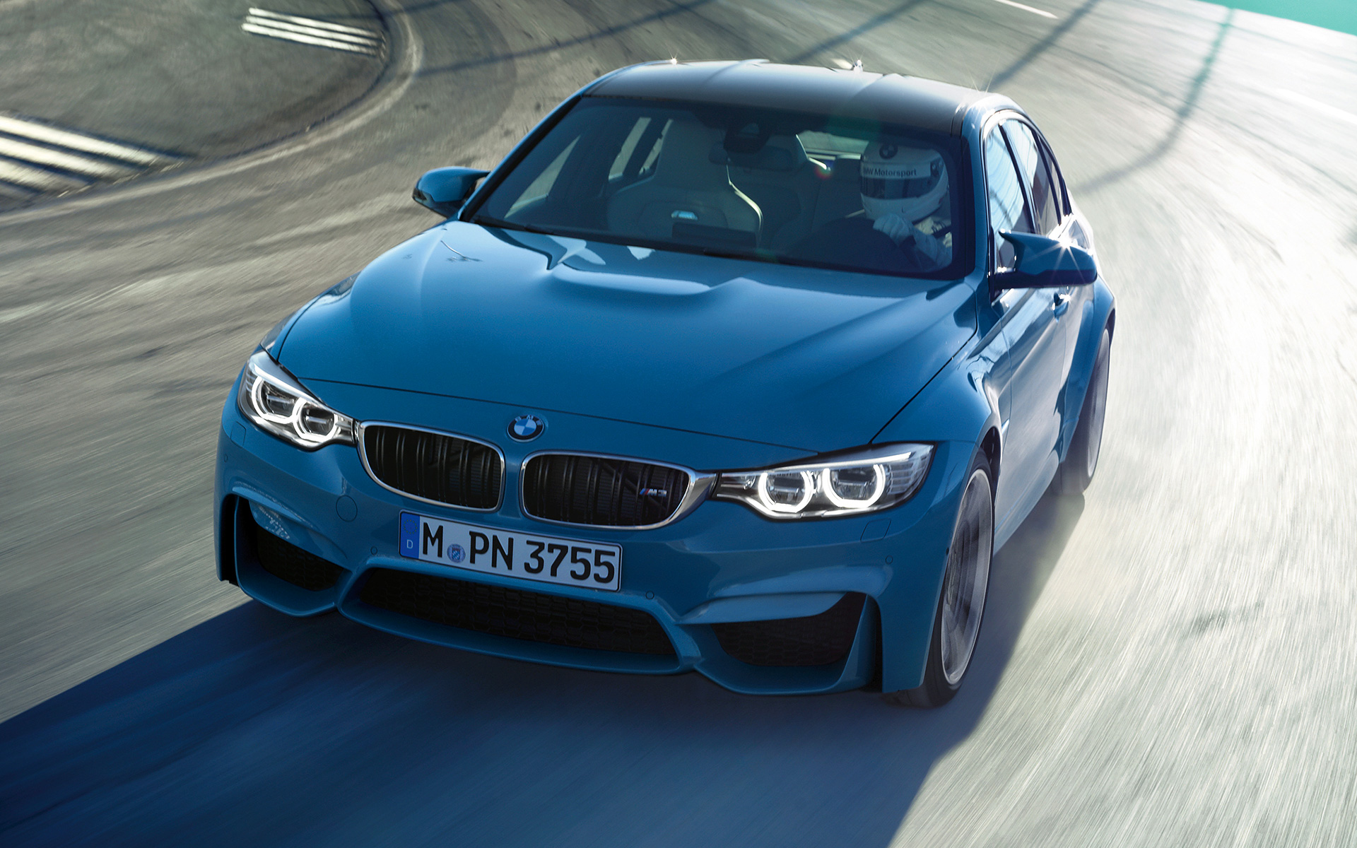 BMW M3 Sedan on race track