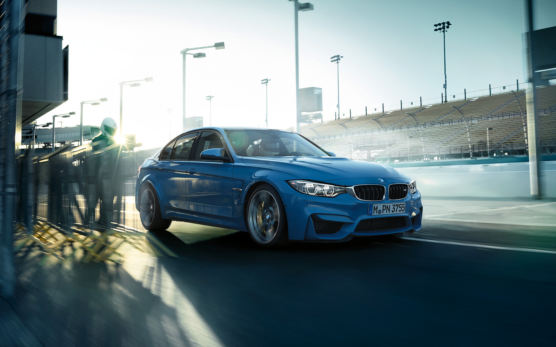 BMW M3 Sedan sports car on road