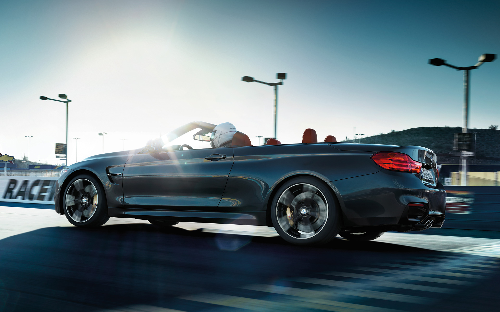 Driving BMW M4 Convertible on Track